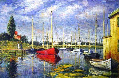 Monet Boats At Argenteuil by Claude Monet Pleasure Boats At Argenteuil
