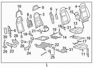 Chevrolet Ssr Headrest Guide  Driver Seat  Passenger Seat