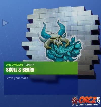 fortnite battle royale spray skull  beard orczcom
