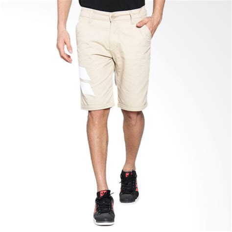 celana adidas pendek celana pendek pria 2 jual monstore khaki white stripes pocket celana pria