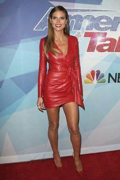 Heidi Klum Sexy Legs Curves Skin Tight Black