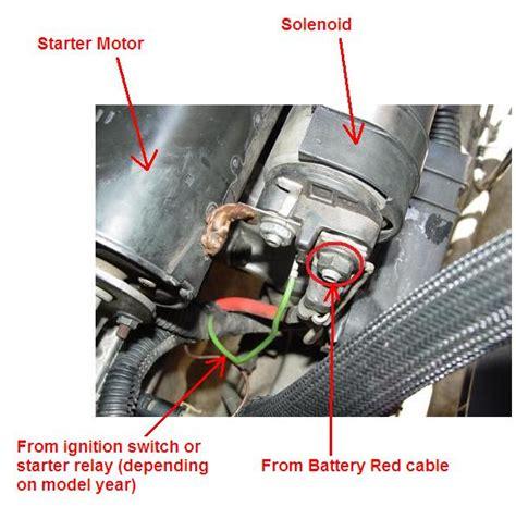 starter wiringdifferences