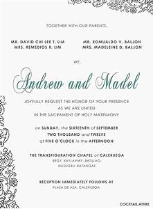 diy invitation andrew madel the wedding With sample wedding invitations sponsors