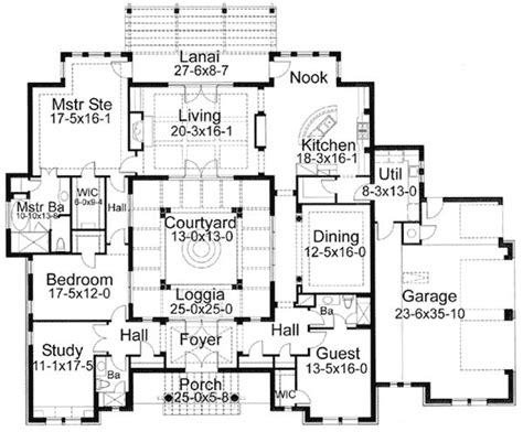 central courtyard house plans interior courtyard floor plan my homes