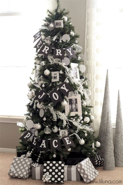 white and black christmas tree decorations 12 christmas