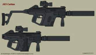Assault Rifle Concept Art Weapons
