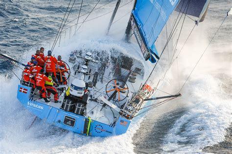 volvo ocean race vestas  hour racing leads
