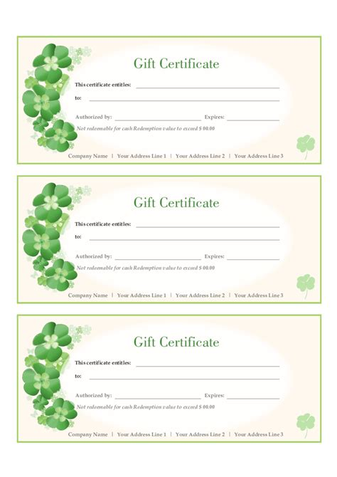 gift certificate template 2018 gift certificate form fillable printable pdf forms handypdf