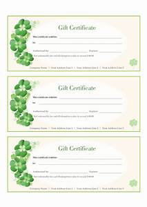 Free Certificate Template Free Gift Certificate Template Template Trakore Document Templates