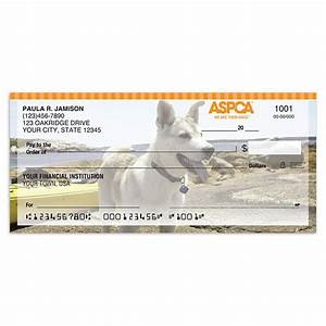 personal checks aspcar dogs checks checks in the mail With aspca address labels