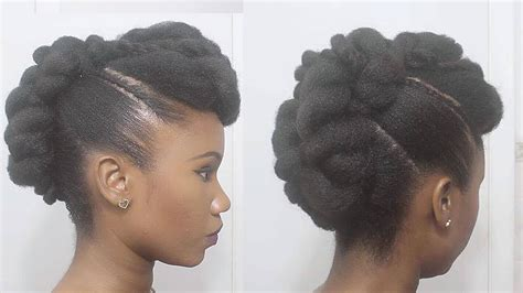 Twisted Mohawk Updo On Natural Hair