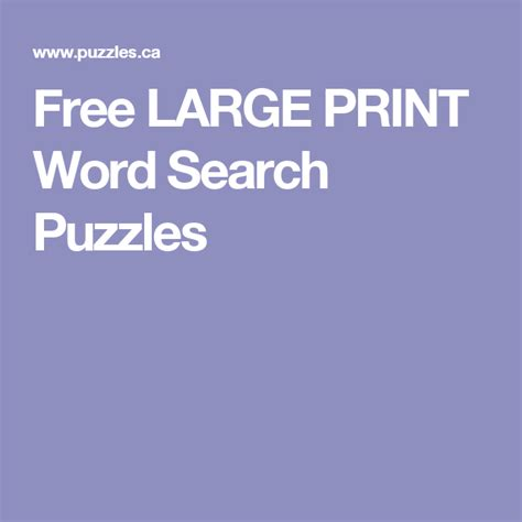 free large print word search puzzles word search word