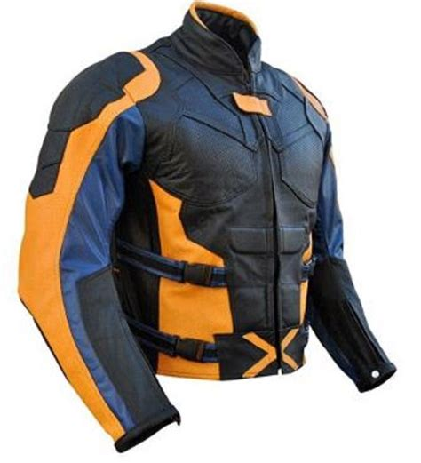 motorcycle jackets for men with armor celebrita x xmen 4 leather motorcycle jacket with armor