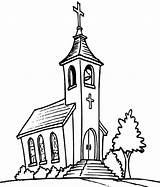 Church Coloring Pages Bell Tower Building Drawing Line Chapel Catholic Drawings Sketch Easy Template Rocks Sanctuary Getdrawings Sheet Colors sketch template