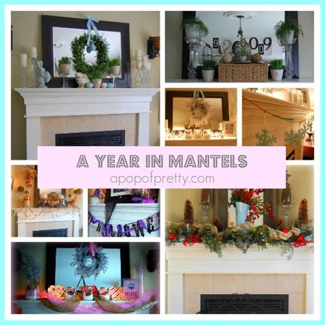 mantel decorating a year in decorated mantels a pop of pretty canadian home