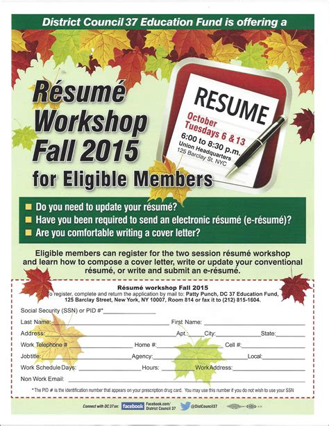 resume workshop local 372 nyc board of education