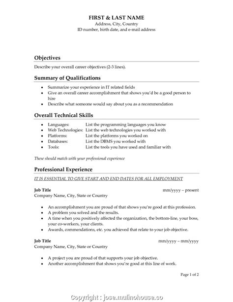 Objective In A Resume by New Best Resume Objective Lines Best Objective For A