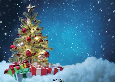 christmas tree background xft snow photography backdrops
