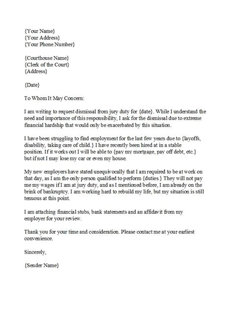 jury duty excuse letter employer exle  onvacations