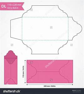 die cut vector envelope template standard dl size With wedding invitation templates dl size