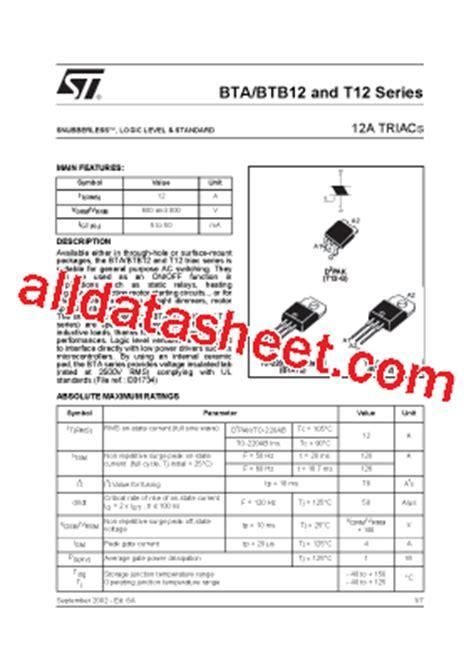 BTB12-800CW Datasheet(PDF) - STMicroelectronics
