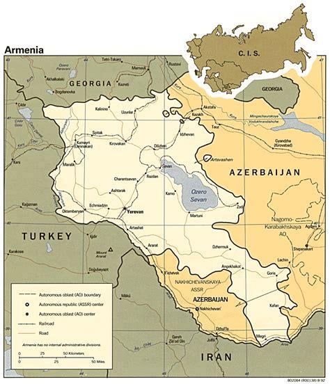 map  armenia