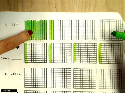 dividing decimals modeling youtube
