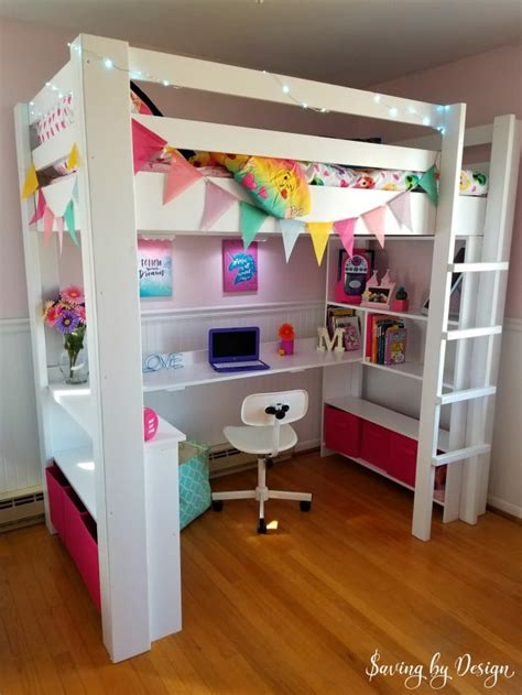 614 bunk bed with space underneath diy loft bed how to build a loft bed with desk and storage
