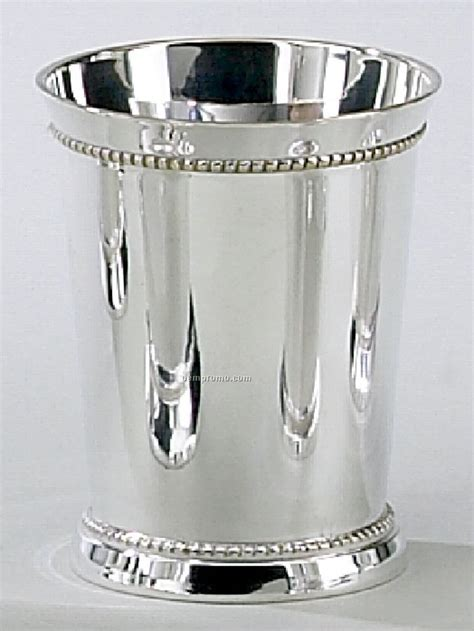 silver plated mint julep cups 3 1 4 quot silver plated beaded mint julep cup china 7938