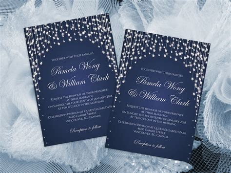 DIY Printable Wedding Invitation Card Template #2433807
