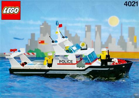 Lego Boat Step By Step by Town Patrol Boat 4021 Lego
