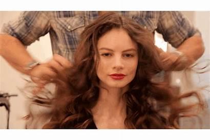Curls Messy Hair Gifs Curl Face Away
