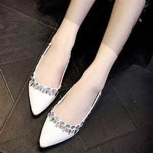 2015 new women flats bridal dress sexy low heel shoes With wedding dress flats