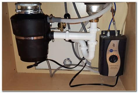 under sink waste disposal installing under sink garbage disposal sink and faucet