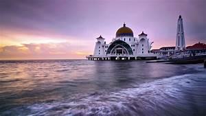 Malacca Straits Mosque Malaysia HD Wallpaper ...