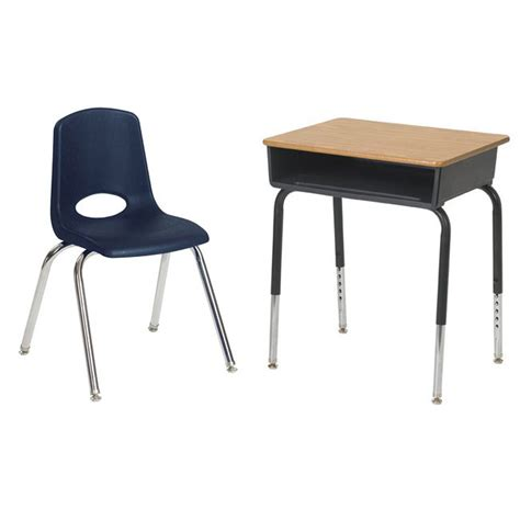 student table and chair ecr4kids classroom package 6 open front desks 6 chairs