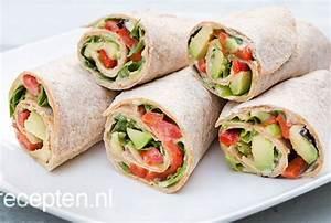 Wraps Füllung Vegetarisch : recept voor lunch wrap met avocado ~ Markanthonyermac.com Haus und Dekorationen