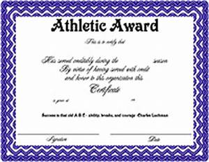 Free printable certificates funny printable certificates free funny sports award certificate template word 10 best images of athletic certificate templates sports award certificate template maxwellsz