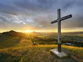 Beautiful Sunset with Cross