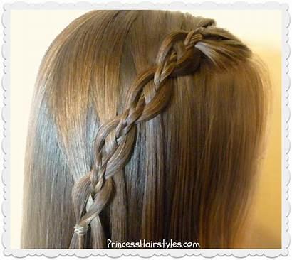 Waterfall Braid Chain Tutorial Hair Hairstyles Princess