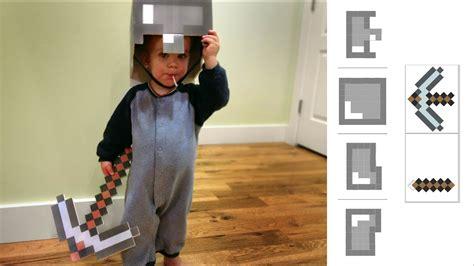 irl    minecraft costume helmet pickaxe youtube