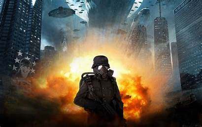 Soldier Iron Sky Wallpapers Definition Explosion Fire