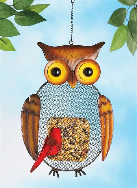 owl bird feeder carolwrightgifts com