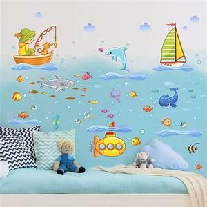 Wandtattoo Unterwasserwelt Kinderzimmer : gem tlich wandsticker unterwasserwelt kinderzimmer ideen ~ Sanjose-hotels-ca.com Haus und Dekorationen