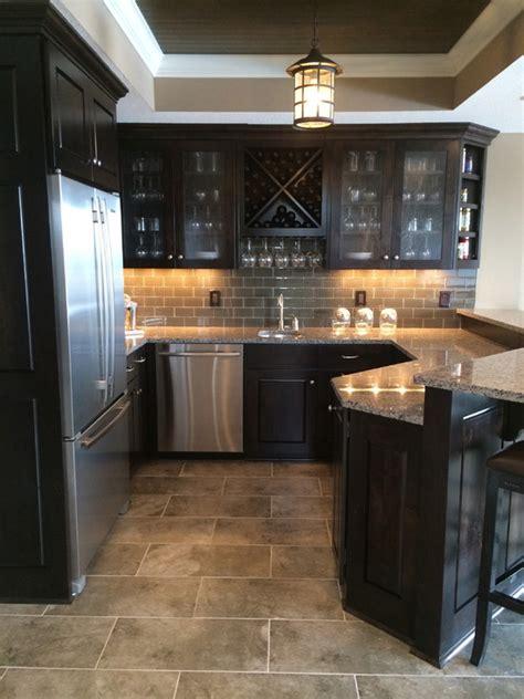 granite kitchen tiles espresso backsplash home design ideas pictures remodel 1301