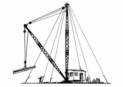 Crane Types Coloring Cranes Shipboard Arm Derricks