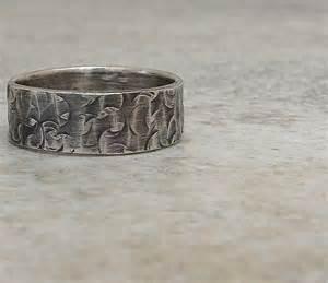 vintage mens wedding bands mens wedding band hammered silver wedding ring distressed