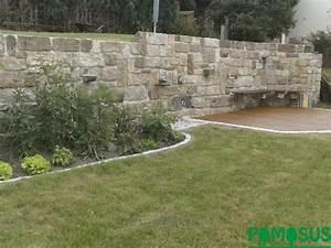 Pomosus Garten Und Landschaftsbau Gt Sttzmauer Aus Sandstein