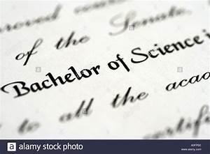 University degree certificate. Bachelor of Science Stock ...