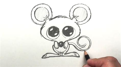 draw  mouse easy cartoon mouse drawing lessons
